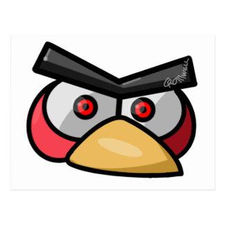 Roter Vogel Postkarte