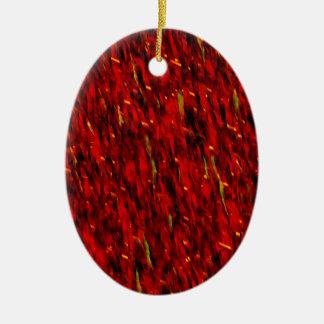 Roter Vorhang abstrakt Keramik Ornament