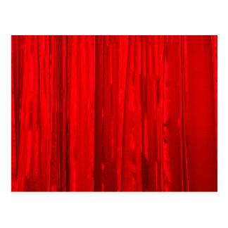 Roter Vorhang Postkarte