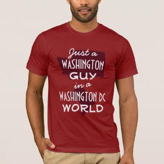 Roter Washington-Staats-Typ in DC T-Shirt