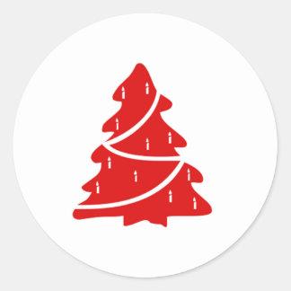 roter weihnachtsbaum sticker roter weihnachtsbaum. Black Bedroom Furniture Sets. Home Design Ideas
