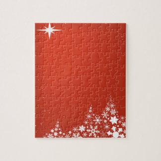 Roter Weihnachtshintergrund Puzzle