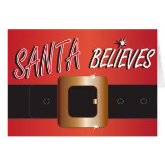 Roter Weihnachtsmann-Anzug - Sankt glaubt Karte