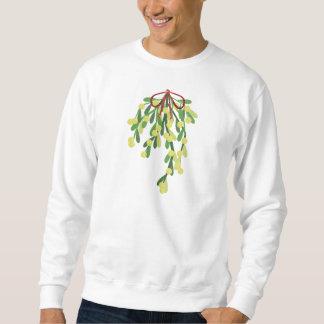 roter Weihnachtsmistelzweig Sweatshirt