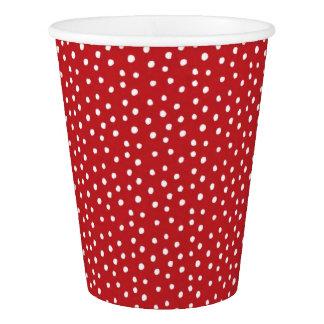 Roter Weihnachtspolka-Punkt-Papier-Teller Pappbecher