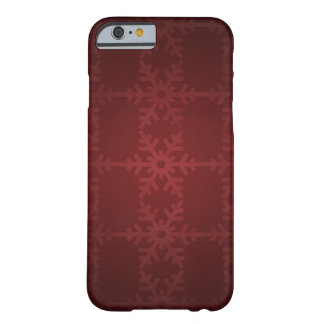 Roter Weihnachtsschneeflockemuster iphone 6 Kasten Barely There iPhone 6 Hülle