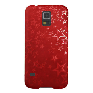 Roter Weihnachtssternentwurf Samsung Galaxy S5 Cover