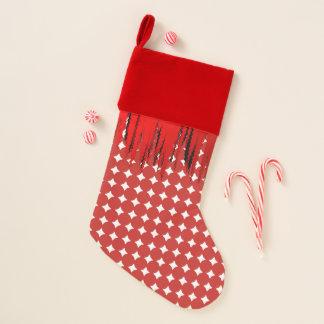 Roter weißer Ball-Motiv-WeihnachtsStrumpf Weihnachtsstrumpf