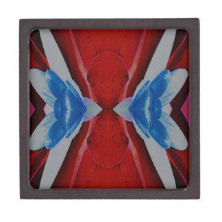 Roter weißer blauer patriotischer künstlerischer schmuckkiste