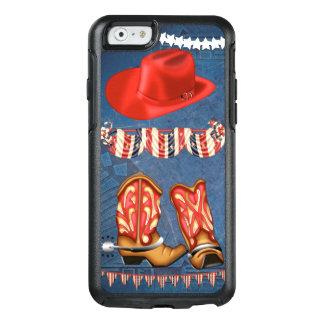 Roter weißer blauer Western des amerikanischen OtterBox iPhone 6/6s Hülle