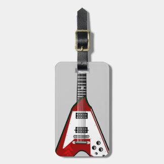 Roter/weißer Gepäckanhänger der vektorgitarre