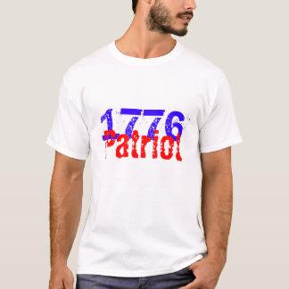 Roter, weißer u. blauer T - Shirt des Patriot-1776