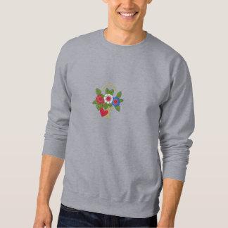 Roter weißer und blauer Korb der Blumen Sweatshirt