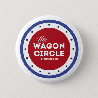 Roter weißer und blauer runder Knopf Runder Button 5,7 Cm