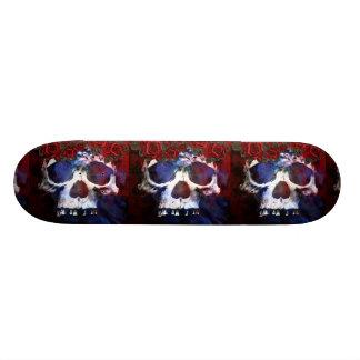 Roter, weißer und blauer Schädel 20,1 Cm Skateboard Deck