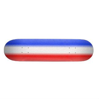 Roter weißer und blauer Streifen der Personalisierte Skatedecks