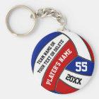 Roter weißer und blauer Volleyball Keychains, Ihr Schlüsselanhänger
