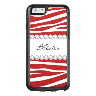 Roter weißer Zebra OtterBox iPhone 6/6s Kasten OtterBox iPhone 6/6s Hülle