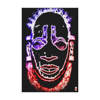 "roter Welpe ""hängende Maske Benins "" Leinwanddruck"