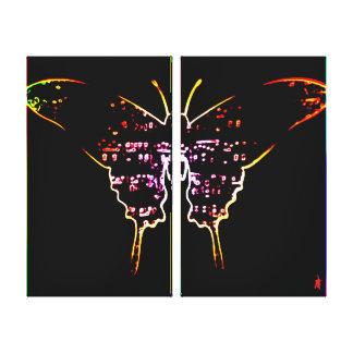 """roter Welpe """"Schmetterling auf der Wand """" Leinwanddruck"""