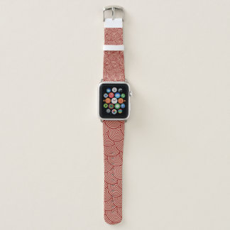 Roter Wirbel Apple Watch Armband