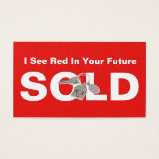 Roter wirklicher Anwesen-Agent verkaufte Visitenkarte
