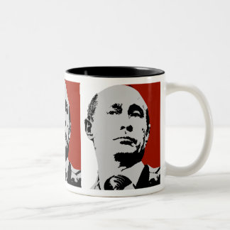 Roter Wladimir Putin Zweifarbige Tasse
