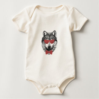 Roter Wolf Baby Strampler