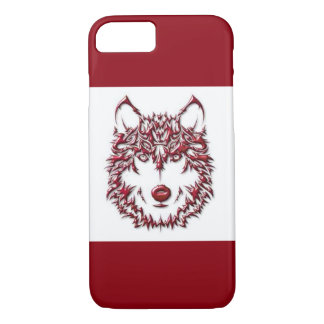 Roter Wolf iPhone 8/7 Hülle