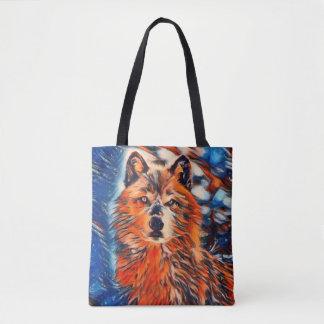 Roter Wolf-Tier-Taschen-Tasche Tasche