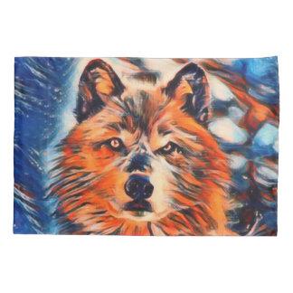 Roter Wolf-Wolf-Tier-Kissenbezug Kissenbezug