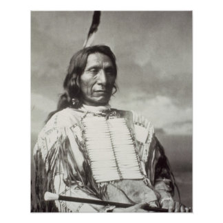 Roter Wolken-Leiter (1822-1909) 1880 (b/w Foto) Poster