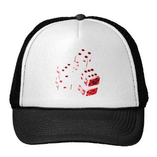 Roter Würfel-Hut Baseballkappen