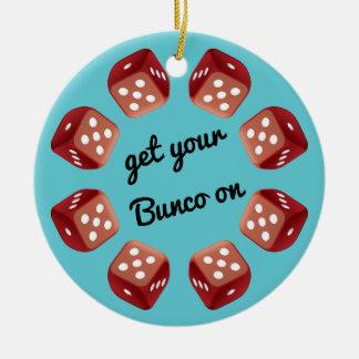 Roter Würfel-Kreis - addieren Sie Ihre eigene Keramik Ornament
