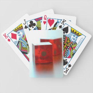Roter Würfel-Poker-Spielkarten Bicycle Spielkarten