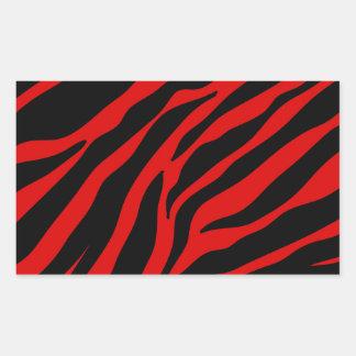 roter Zebra Rechteckiger Aufkleber