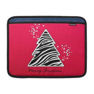 Roter Zebra-Weihnachtsbaum MacBook Sleeve