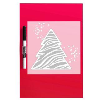 Roter Zebra-Weihnachtsbaum Memoboard