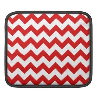 Roter Zickzack Stripes Zickzack Muster iPad Sleeve
