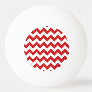 Roter Zickzack Stripes Zickzack Muster Tischtennis Ball