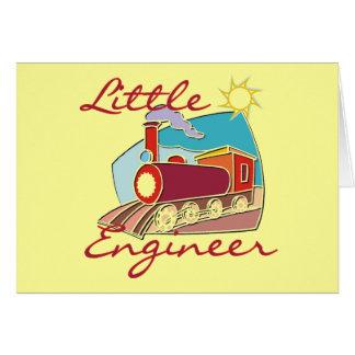 Roter Zug-kleine Ingenieur-T-Shirts und Geschenke Karte