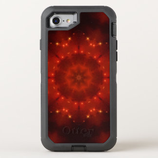 Roter Zwerg-Mandala OtterBox Defender iPhone 8/7 Hülle