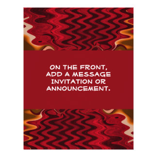 rotes abstraktes 21,6 x 27,9 cm flyer