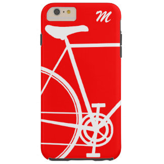 Rotes abstraktes Fahrrad Tough iPhone 6 Plus Hülle
