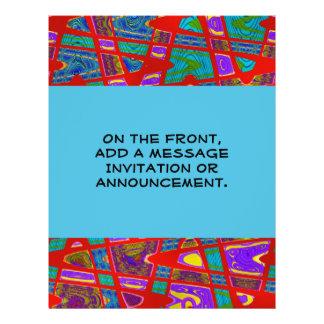 Rotes abstraktes custom flyer