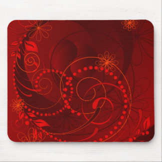 rotes abstraktes mousepads