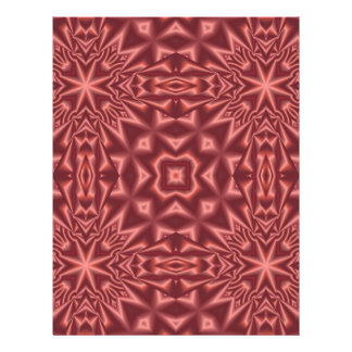 Rotes abstraktes Muster 21,6 X 27,9 Cm Flyer