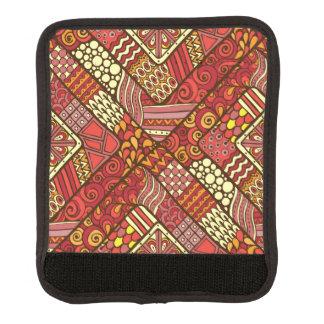 Rotes abstraktes Stammes- aztekisches Muster Gepäckgriff Marker