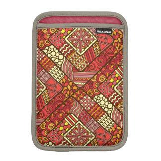 Rotes abstraktes Stammes- aztekisches Muster iPad Mini Sleeve
