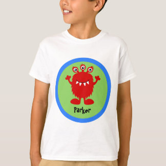 Rotes albernes Monster-personalisierter T - Shirt